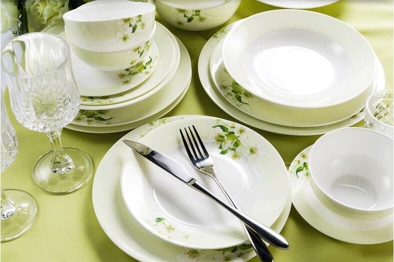 Fine Bone China Dinnerware Set ... & Fine Bone China Dinnerware Set - Spring - Bone China Products Supplier