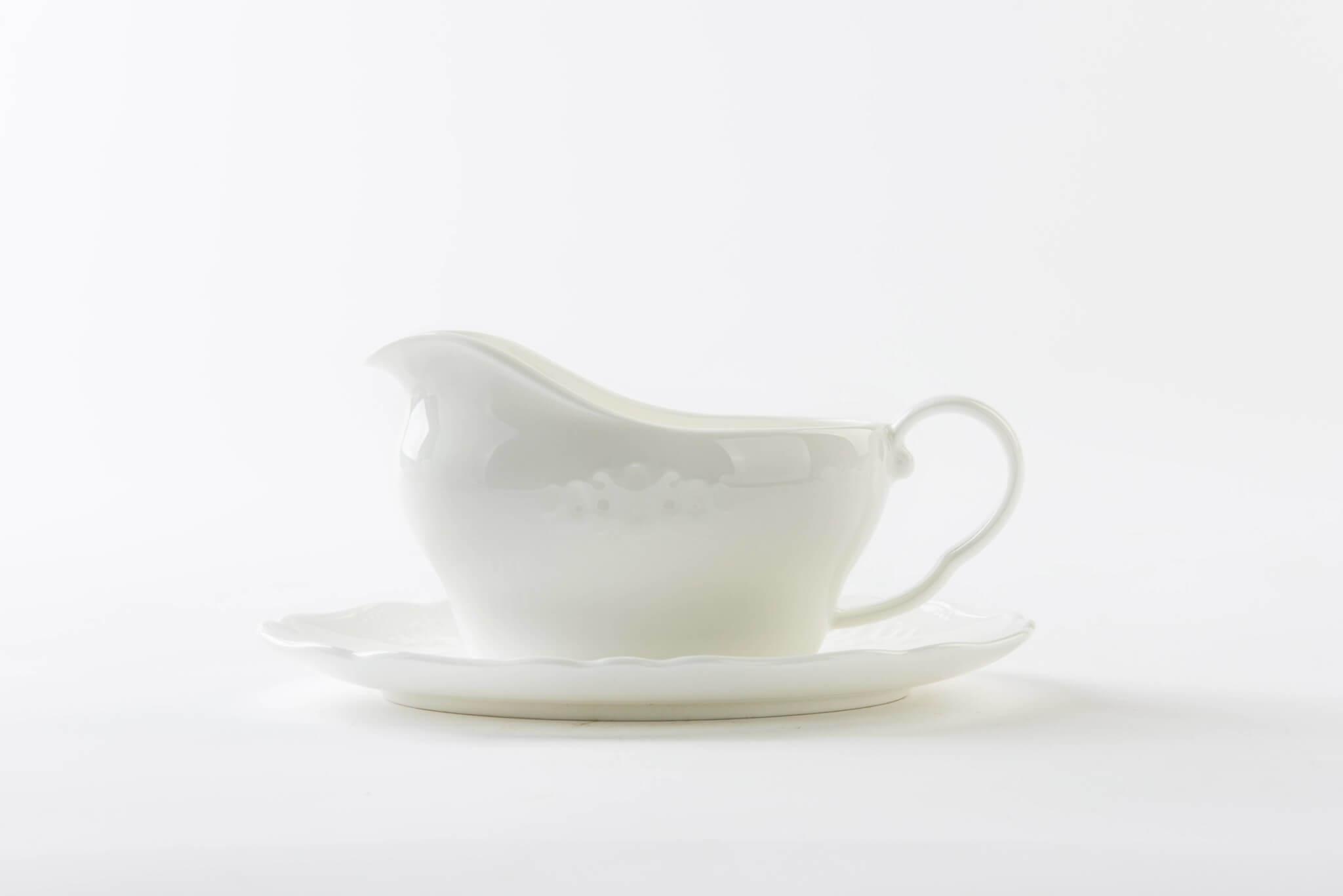 ... embossed white bone china gravy boat ... & Embossed white bone china dinnerware - Bone China Products Supplier