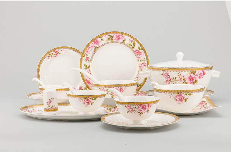 40 pieces bone china tableware ...  sc 1 st  What is Bone China? & Gold Rim Bone China Dinner Set - Professional Bone China Supplier