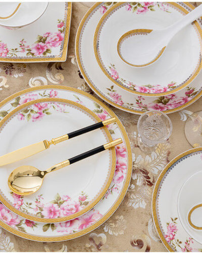 bone china plates with flower decoration and gold rim  sc 1 st  What is Bone China? & Bone china dinnerware sets - Bone china products exporter and supplier