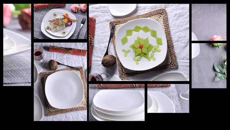 ... white bone china square dinner plates daily use  sc 1 st  What is Bone China? & White Bone China Square Dinner Plates 10 inch 8 inch Wholesale
