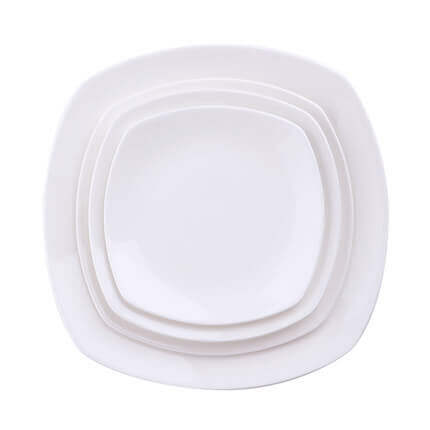 sc 1 st  What is Bone China? & White Bone China Square Dinner Plates 10 inch 8 inch Wholesale