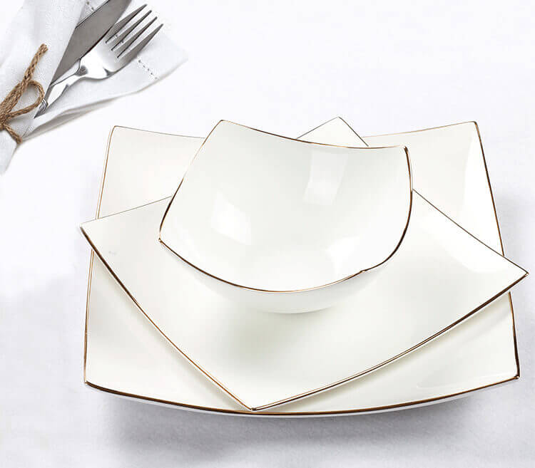 hotel tableware square flat dinner set  sc 1 st  What is Bone China? & High-end Hotel Tableware - Bone China Tableware - 5 Star Hotel Choice