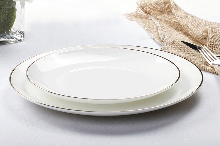 White Bone china Plates Coupe Plate Wholesale