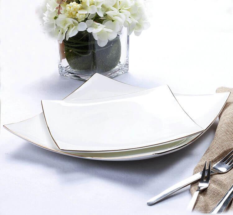 ... bone china square plates ... & High-end Hotel Tableware - Bone China Tableware - 5 Star Hotel Choice